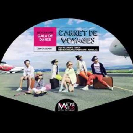 """Spectacle de danse """"Carnet de voyage"""" de  Martine Mattox"""